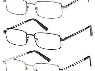 Reading Glasses 3X Stainless Flex Readers   1 75x
