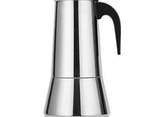 YSISlY Stovetop Espresso Maker  2 12 Cup Stainless Steel Percolator Italian Coffee Maker Induction Cooker  B 600Ml