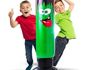 Inflatable Punching Bag for Kids   Strong Construction Freestanding Bounce Back Monster Boxing Toy   Air Bop Bag for Boys and Girls for Exercise and Stress Relief in Children Age 3 10   48 Inch Height