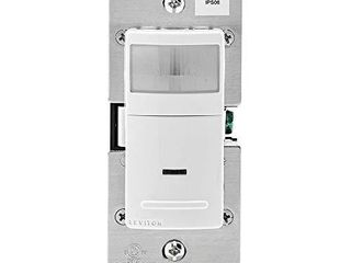 leviton IPS06 1lW Decora Motion Sensor In Wall Switch  Auto On  5A  Single Pole or 3 Way  White
