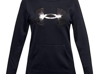 Under Armour Girls  Armour Fleece Graphic Hoodie   Black  001 Black   Youth Small