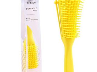 Messen Detangling Brush for Natural Black Hair Detangler for Afro America Textured 3a to 4c Kinky Curly Wavy Eliminate Knots While Exfoliating Your Scalp and Stimulate Blood Circulation  Yellow