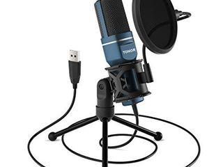USB Microphone  TONOR Computer Condenser PC Gaming Mic with Tripod Stand   Pop Filter for Streaming  Podcasting  Vocal Recording  Compatible with laptop Desktop Windows Computer  TC 777
