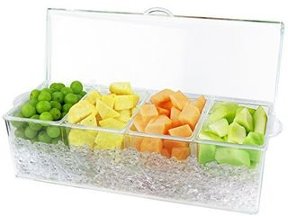 Estilo 4 Section Condiment on Ice  Clear