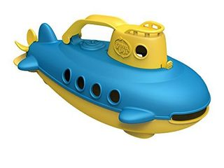 Green Toys Submarine in Yellow   blue   BPA Free  Phthalate Free  Bath Toy with Spinning Rear Propeller  Safe Toys for Toddlers  Babies