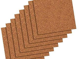 Quartet Cork Tiles  Cork Board  12 Inches x 12 Inches  Corkboard  Wall Bulletin Boards  Natural  8 Count  108