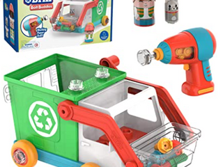 Educational Insights Design   Drill Bolt Buddies Recycling Truck