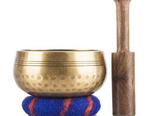 Tibetan Singing Bowl Set Meditation Sound Bowl Handcrafted in Nepal for Healing and Mindfulness