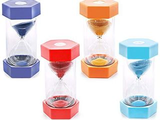 Keadic 15 Minutes Security Sandglass Hourglass Sand Clock Timer for Kids Games Brushing Timer Home Office Decor Timers   Pack of one  Red