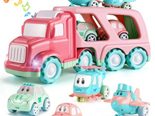 Temi   Motorized Transport Vehicle with Accessories   Pink Blue
