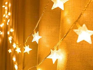 Indoor Star String lights  Meet the starry night anywhere  Decorative lights for Girls Bedroom  Wall Wedding  and Ramadan  43 ft 100 led 29 v Extendable Waterproof Twinkle lights with 8 Flashing Modes