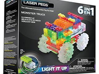 laser Pegs 6 in 1 Monster Truck Building Set