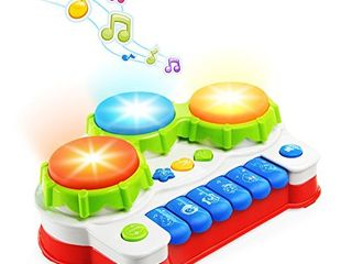 NextX Baby Musical Toys  Toddler learning Music Drum Piano Toy  Development Musical Toy for 6 Months Infant Baby  with Music and lighting Up