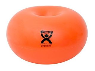 Cando 30 1952 CanDo Donut Exercise  Workout  Core Training  Swiss Stability Ball for Yoga  Pilates and Balance Training in Gym  Office or Classroom  Orange  55 cm W x 30 cm 22 Dia x 11  H