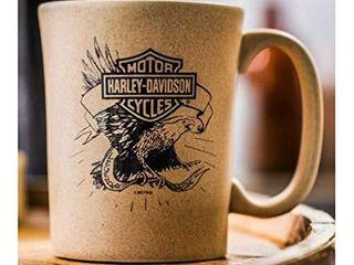Harley Davidson Speckle B S Eagle Ceramic Coffee Cup  Natural 15 oz  3SMN4907