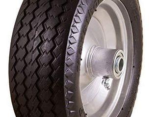 Marathon 4 10 3 50 4  Flat Free  All Purpose Utility Tire on Wheel  3 5  Centered Hub  5 8  Bearings