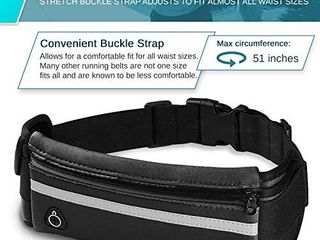 E Tronic Edge Waist Packs  Best Comfortable Unisex Running Belts That Fit All Waist Sizes   All Phone Models for Running  Hiking  Workouts  Cycling  Travelling Money Belt   More  Black
