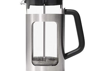 OXO Brew French Press with Groundslifter  One Size  Steel