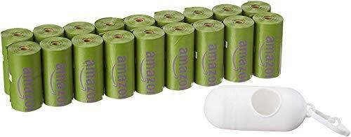 Amazon Basics Scented Dog Poop Bags with Dispenser and leash Clip  9 x 13 Inches  lavender Scented   270 Count  18 Rolls