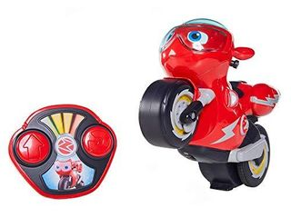 Ricky Zoom Remote Control Turbo Trick Ricky Remote Control Motorcycle Races  Performs Wheelies   360 Degree Stunt Spins  Multi