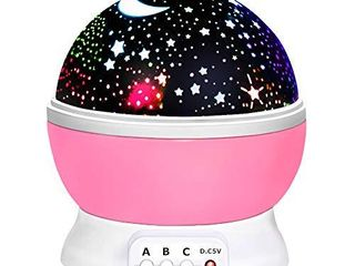 Birthday Gifts Presents for 2 10 Year Old Girls  Wonderful Romantic Starlight for Kids Toys for 2 10 Year Old Boys Xmas Halloween Gifts for 2 10 Year Old Boys Stocking Fillers Pink TSUKXK03
