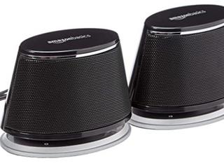 Amazonbasics Usb powered Computer Speakers With Dynamic Sound   Black