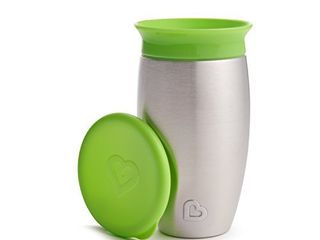 Munchkin Miracle Stainless Steel 360 Sippy Cup  Green  10 Ounce