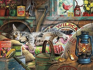 Buffalo Games   Cats Collection   laid Back Tom   750 Piece Jigsaw Puzzle