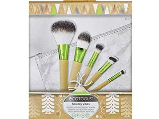 EcoTools 3146 Vibes Kit Makeup Brush Gift Set with Travel Brush Bag For Power Foundation and Concealer