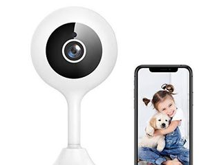 WiFi Camera Indoor  Goowls 1080p HD Home Security Camera 2 4GHz Plug in IP Dog Camera for Pet Baby Nanny with Motion Detection Night Vision 2 Way Audio Cloud   SD Card Storage  Works with Alexa