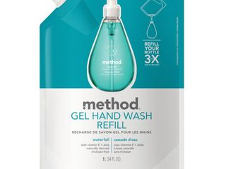 Method Gel Hand Soap Refill Waterfall 34oz   6 Pack