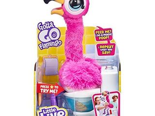 little live Pets Gotta Go Flamingo   Interactive Plush Toy That Eats  Sings  Wiggles  Poops and Talks  Batteries Included    Reusable Food  Ages 4
