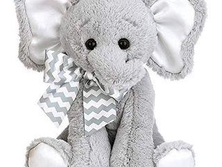Bearington Baby lil  Spout Elephant Plush Stuffed Animal Piggy Bank with Noise  10 inch