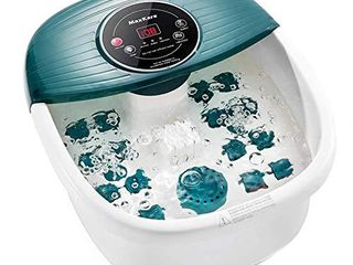 Foot Spa Bath Massager with Heat  Bubbles  and Vibration  Digital Temperature Control  16 Masssage Rollers with Mini Detachable Massage Points  Soothe and Comfort Feet