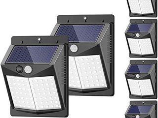 Solar lights Outdoor   6 Pack 3 Modes 50lED  SEZAC Motion Sensor Security lights Solar Security lights IP 65 Wireless Waterproof Outdoor lights for Garden Patio Yard Deck Garage Fence Pool
