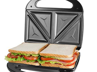 Sandwich Maker  Toaster And Electric Panini Press With Non stick Plates  1in