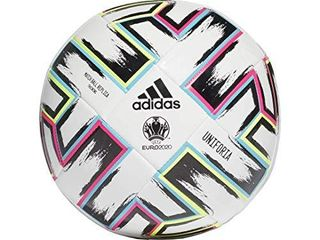 adidas Uniforia Training Soccer Ball White Black Signal Green Bright Cyan 3