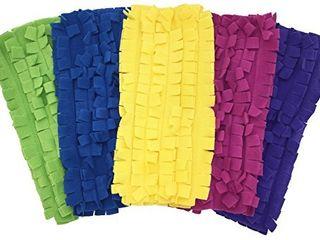 Xanitize Fleece Sweeper Mop Refills for Swiffer   Reusable  Dry Duster  for Hardwoods  laminates   5 Pack Rainbow II