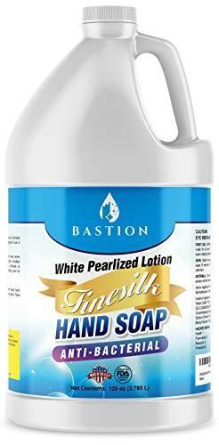 Antibacterial Antimicrobial Finesilk White Pearlized lotion liquid Hand Soap  Bulk One Gallon  128 oz  Refill Jug  PH Balanced Ultra Strength  Made In USA
