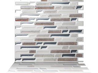 Tic Tac Tiles Peel and Stick Self Adhesive Removable Stick On Kitchen Backsplash Bathroom 3D Wall Tiles in Como Pebble  10