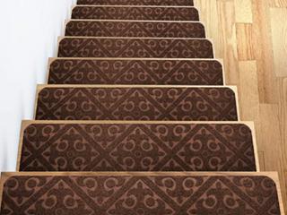 Carpet Stair Treads Set Of 13 Non Slip skid Rubber Runner Mats Or Rug Tread