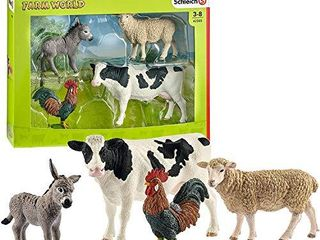 Schleich Farm World 4 Piece Farm Animals Set for Toddlers and Kids Ages 3 8