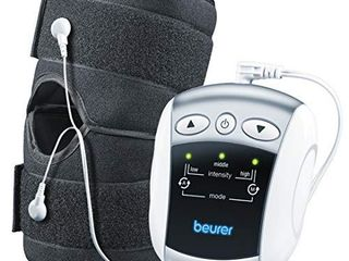Beurer EM34 2 in 1 Knee   Elbow TENS Unit  Electric Massager with Brace for Pain Relief   25 Modes   Good for Professionals   Universal Cuff Size  Men   Women   Stabilizing Muscle Strength Stimulator