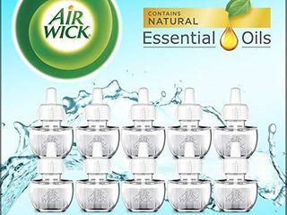 Air Wick Plug in Scented Oil 10 Refills  Fresh Waters  Eco Friendly  Essential Oils  Air Freshener