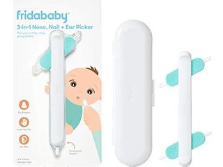FridaBaby 3 in 1 Nose  Nail   Ear Picker by Frida Baby The Makers of NoseFrida The SnotSucker  Safely Clean Baby s Boogers  Ear Wax   More