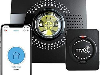 MyQ Smart Garage Door Opener Chamberlain MYQ G0301   Wireless   Wi Fi enabled Garage Hub with Smartphone Control  1 Pack  Black