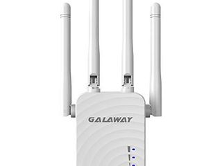 GAlAWAY G1208 WiFi Extender  1200Mbps WiFi Repeater Wireless Signal Booster  2 4   5GHz Dual Band WiFi Extender with Ethernet Port  360 Degree Full Coverage  White