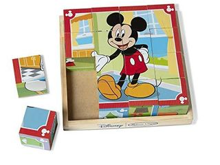 Melissa   Doug Disney Mickey Mouse Wooden Cube Puzzle