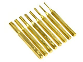 SE 8 Piece Brass Pin Drive Punch Set in a Pouch   ST1032B