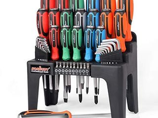 HORUSDY 44 Piece Magnetic Screwdriver Set with Go Thru Steel Blades   High Torque
